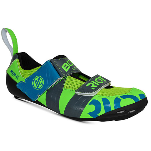 BONT RIOT TR+ TOTALLY LIME CHARCOAL